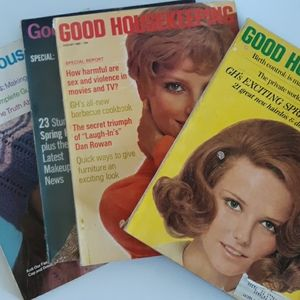 Vintage 1960's/70's Good Housekeeping Magazines